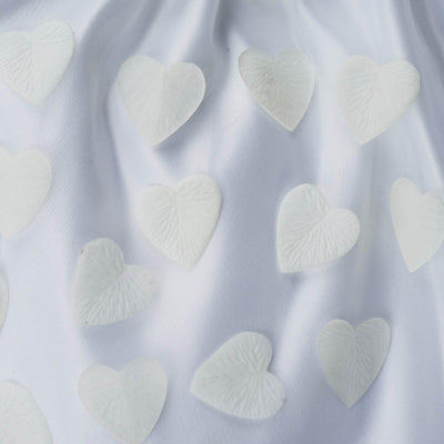 500 Pack | Ivory | Silk Heart Confetti | Party Table Scatters