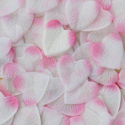 500 Pack | Pink | Silk Heart Confetti | Party Table Scatters