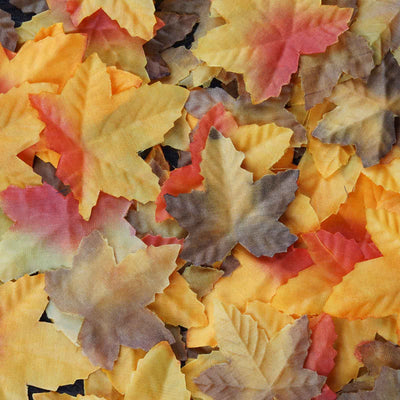 500 Assorted Artificial Maple Leaves For Wedding Aisle & Table Confetti