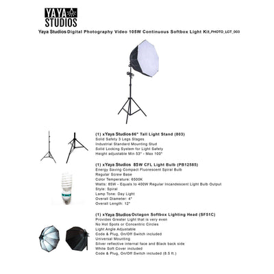 400W Professional Photography Photo Video Portrait Studio Softbox Lighting Kit