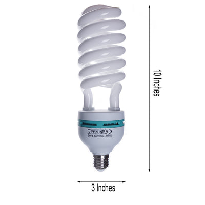 2 Pack 105 Watt | Fluorescent Full Spectrum 6500K Daylight Balanced Light Bulb