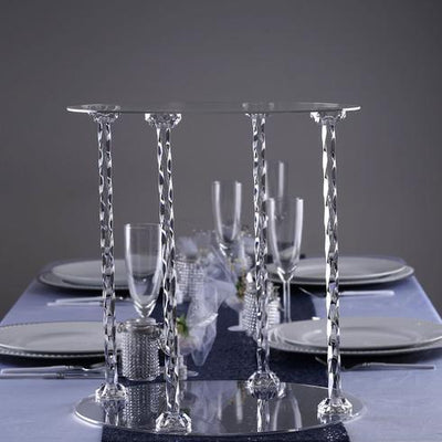 Lovely Acrylic 4-Pillar Cake Stand