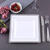 Salad Plate, 8 inch Square Plates, Plastic Disposable Plates