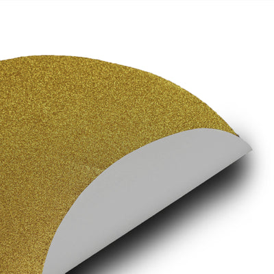 6 Pack Glitter Placemat Non Slip Table Placemats, Oval Faux Leather Placemats With Glitter - Gold
