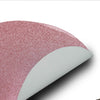 6 Pack Non Slip Table Placemats, Oval Faux Leather Placemats With Glitter - Pink