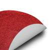 6 Pack Non Slip Table Placemats, Oval Faux Leather Placemats With Glitter - Red