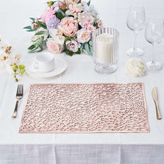 Vinyl Table Mats, Non Slip Dining Table Placemats, Rectangle Placemats