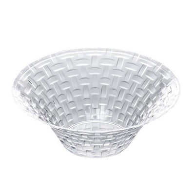 10 Pack 5oz Clear Basketweave Plastic Round Disposable Bowl