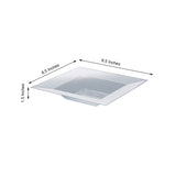 10 Pack 12oz Clear Honeycomb Plastic Square Disposable Bowl