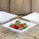 10 Pack - White 5oz Square Disposable Bowl - Sorrentine Collection