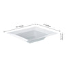 10 Pack 12oz White Sorrentine Plastic Square Disposable Bowl