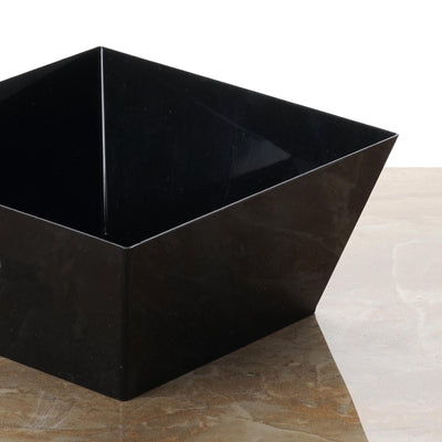 6 Pack - Black Innovative Square 42oz Disposable Bowl