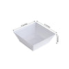 12 Pack 10oz White Innovative Plastic Square Disposable Bowl