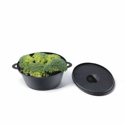 6 Pack Black 12oz Cooking Pots with Lid and Handles