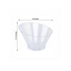 20 Pack 7oz Clear Modern Plastic Round Disposable Bowl