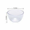 12 Pack | 4oz Clear Petite Plastic Round Disposable Bowl