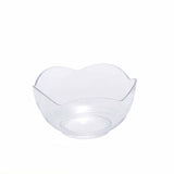 12 Pack 6oz Clear Plastic Floral Round Disposable Dessert Salad Bowl