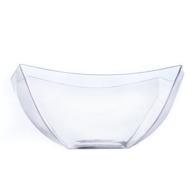 12 Pack 8oz Clear Curved Plastic Square Disposable Bowl