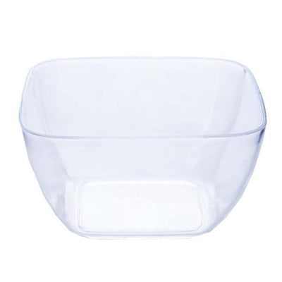 18 Pack 2oz Clear Mini Chambury Plastic Square Disposable Bowl
