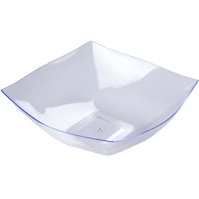 4 Pack Clear 4qt Chambury Plastic Square Disposable Serving Bowl