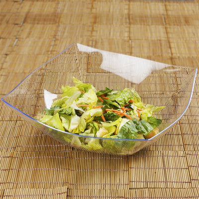 4 Pack - Clear Square 4qt Disposable Serving Bowl   - Chambury Plastics