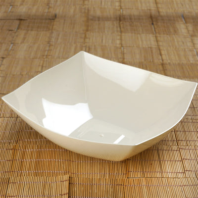 4 Pack 4qt Ivory Chambury Plastic Square Disposable Serving Bowl Chambury Plastics