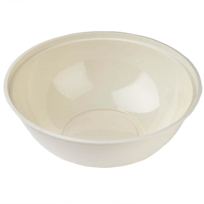 4 Pack 4qt Ivory Chambury Plastic Round Disposable Serving Bowl
