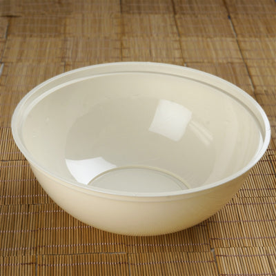 4 Pack | Black Round Disposable Serving Bowls | 4 Qt Large Plastic Salad Bowls