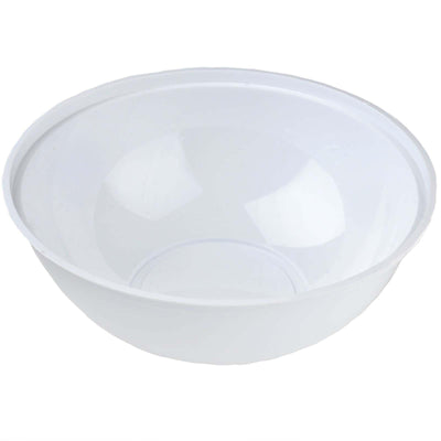 4 Pack White 4qt Chambury Plastic Round Disposable Serving Bowl