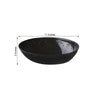 4 Pack | Black Oval Disposable Serving Bowls | 2 Qt Large Plastic Salad Bowls