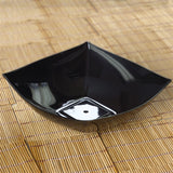 4 Pack - Black Square 32oz Disposable Serving Bowl   - Chambury Plastics