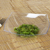 4 Pack - Clear Square 32oz Disposable Serving Bowl   - Chambury Plastics