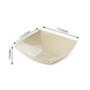 4 Pack | Ivory Square Disposable Serving Bowls | 32 Oz Plastic Salad Bowls