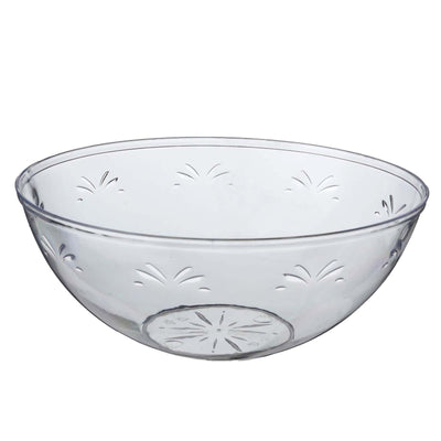 4 Pack 32oz Clear Chambury Plastic Round Disposable Serving Bowl