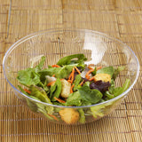 4 Pack | Clear Round Disposable Serving Bowls | 32 Oz Plastic Salad Bowls