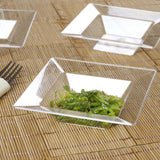10 Pack 5oz Clear Chambury Plastic Square Disposable Bowl