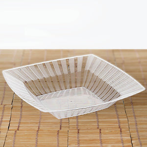 10 Pack 32oz Clear Chambury Plastic Square Disposable Serving Bowl
