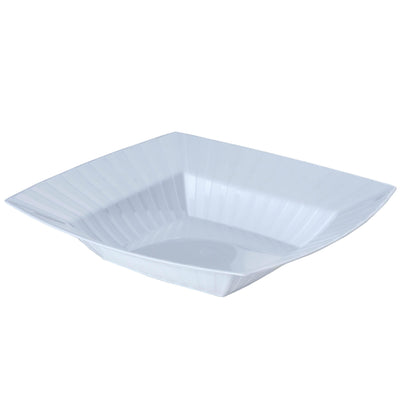 10 Pack 32oz White Chambury Plastic Square Disposable Serving Bowl