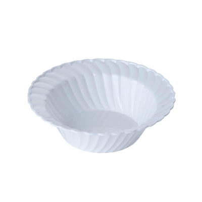 12 Pack White 5oz Chambury Plastic Flared Round Disposable Bowl