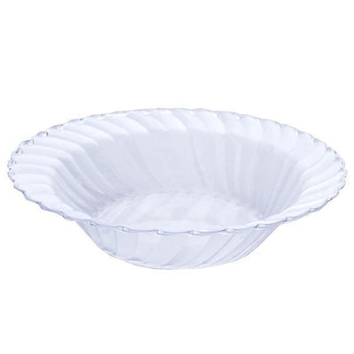 12 Pack | Clear Flared Round Disposable Bowls | 16 oz Plastic Soup Bowls