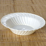 12 Pack - Ivory Flaired Round 16oz Disposable Bowl   - Chambury Plastics