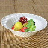 12 Pack 16oz Ivory Flared Plastic Round Disposable Bowl