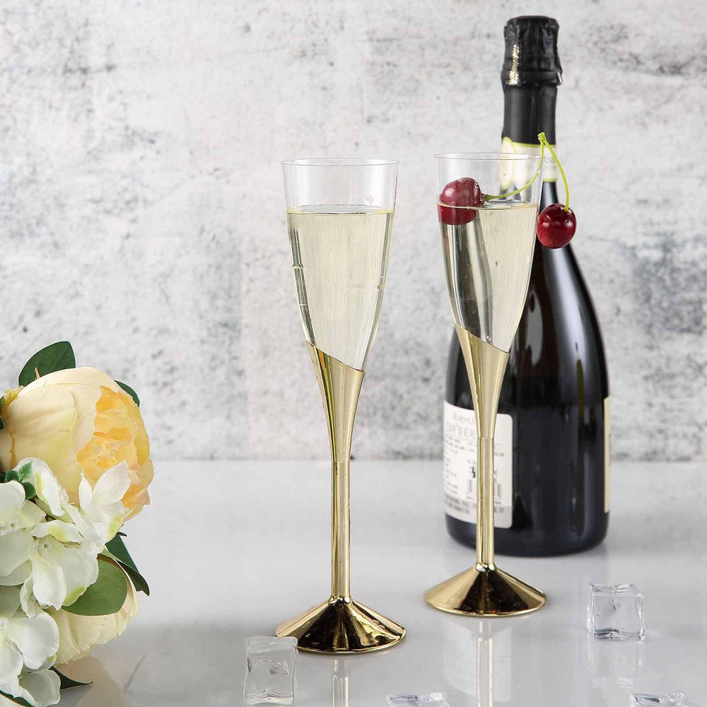 Champagne Flute with a Gold Base
