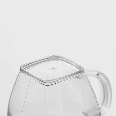 8 Pack Clear 5oz Smart Square Disposable Tea Cup