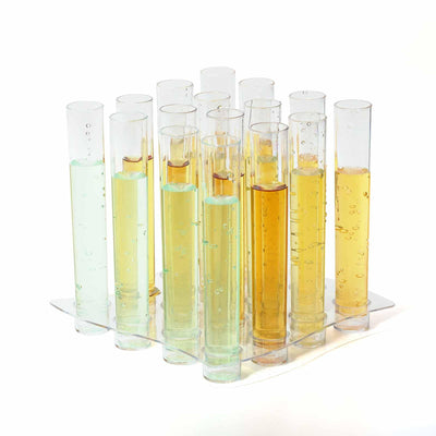16 Pack Clear 1oz Test Tube Disposable Shot Glasses With Tray