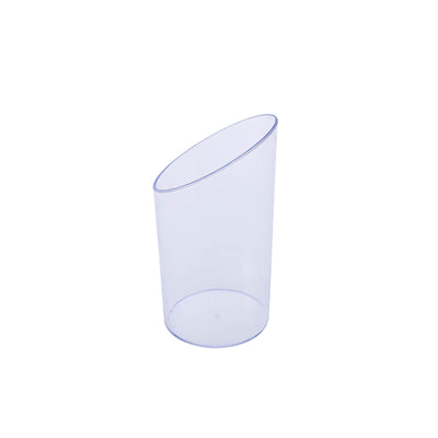 20 Pack Clear 3oz Diminutive Flasket Plastic Disposable Dessert Cup