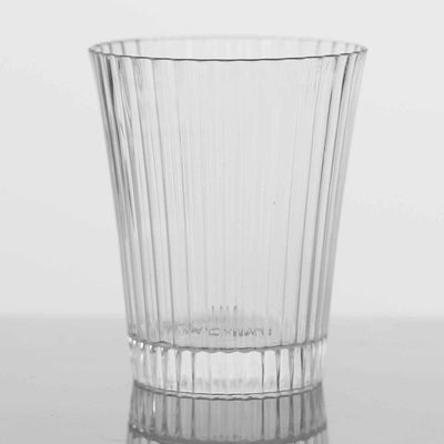24 Pack | 3oz Round Clear Disposable Plastic Shot Glasses | Mini Party Disposable Cups