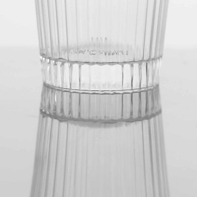 24 Pack Clear 3oz Round Twirl Plastic Disposable Shot Glass