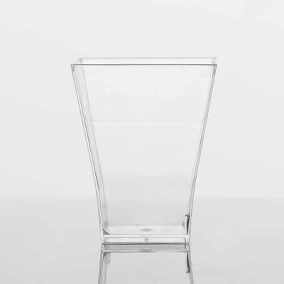 24 Pack Clear 2oz Super Chic Plastic Square Disposable Shot Glass