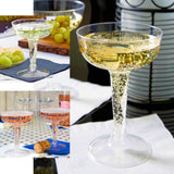 20 Pack Clear 4oz Disposable Champagne Glass Crystal Collection